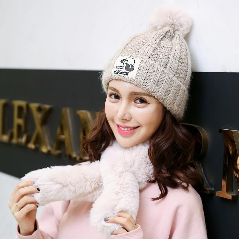 Korea Fashion Style topi wanita musim gugur dan musim dingin topi rajutan topi hangat topi wol