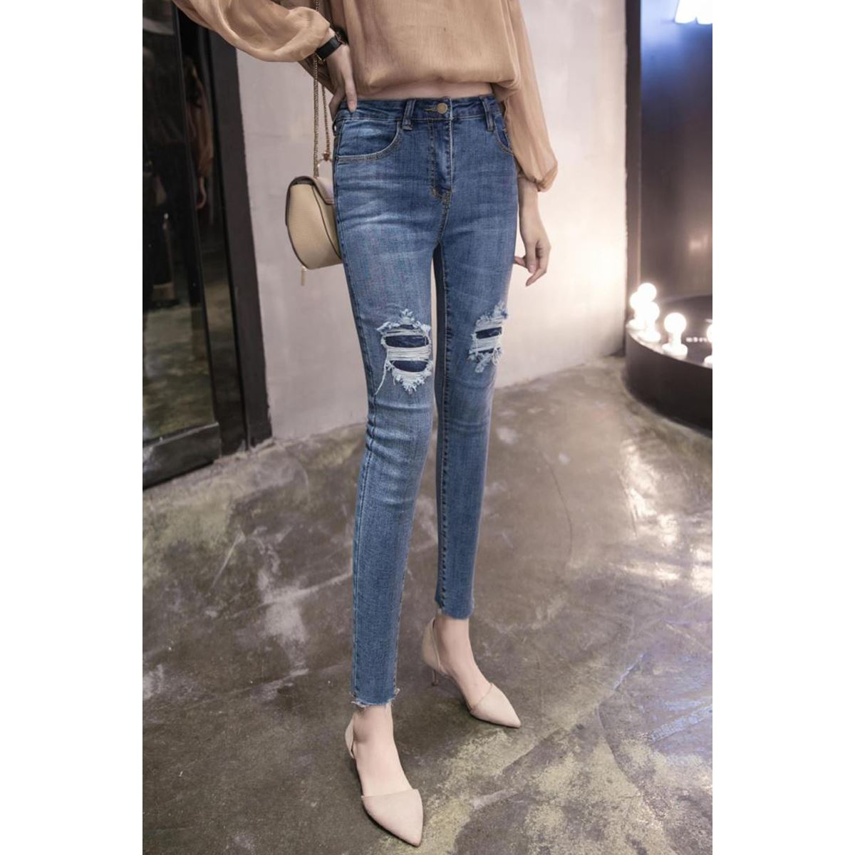 Flash Sale Korean-style New style elegant to be side ankle-length pants (