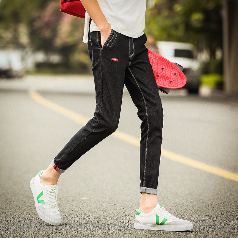 ... Pants Jeans Source · Mens Jeans Hitam Source Korean style Slim Fit Youth skinny ankle length