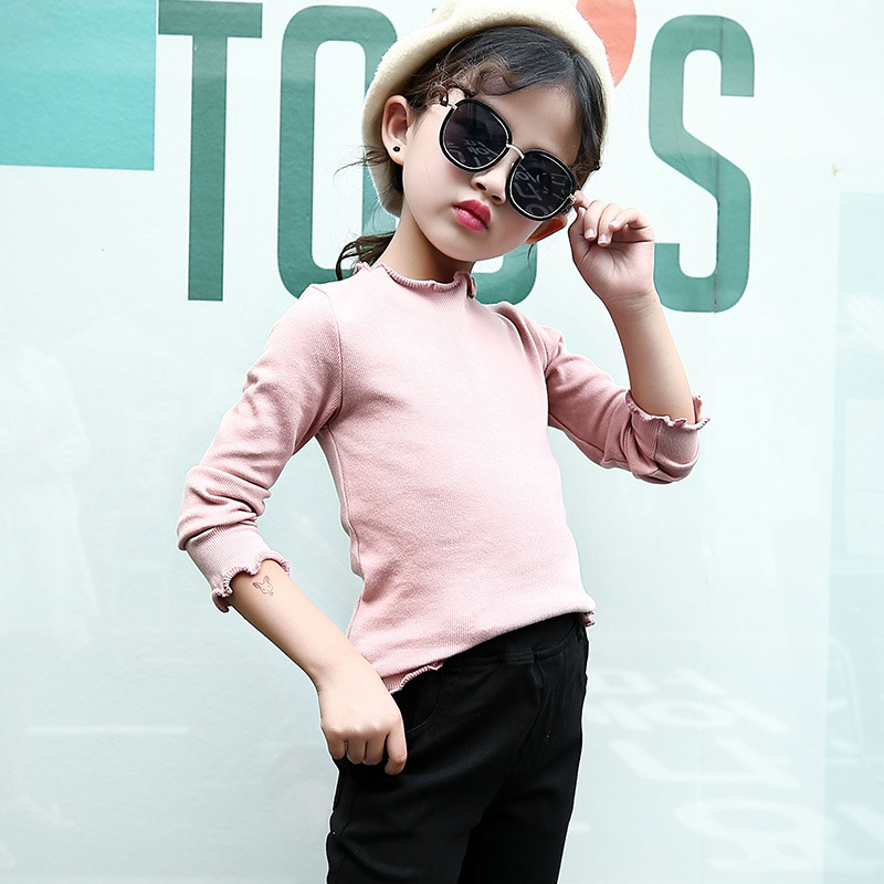 ... BASE SHIRT MERAH MUDA. Flash Sale Korean-style spring New style girl's solid color long-sleeved t-