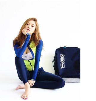 Korean-style sunscreen long-sleeved snorkeling swimsuit diviing clothes (Lengan panjang kemeja + Bra + celana + segitiga celana)