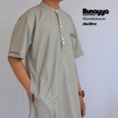 Kurta Gamis Ikhwan Pakistan Bunayya Sunnah Clothing Original Warna Abu Silver