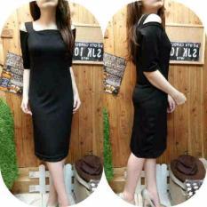 kyoko fashion dress gh panjang -(hitam)