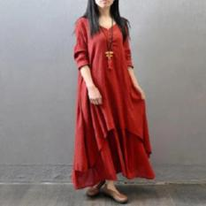 Labelledesign VISGEL DRESS MAXY - MAROON