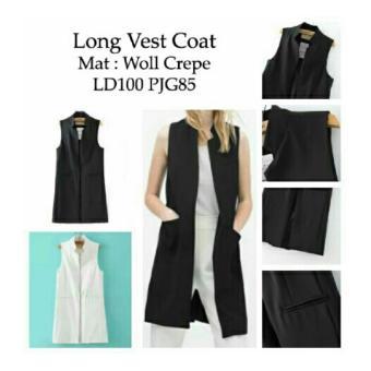 harga Ladies Fashion Blazer Panjang Wanita Vest Ignacia / Cardingan / Long Vest Coat / Jaket Rompi Wanita NR - Hitam - korea Lazada.co.id
