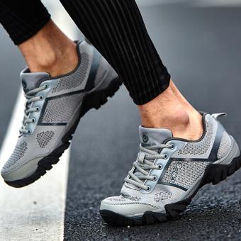 Jual Laki-laki bernapas ringan pasang sepatu merek sepatu olahraga (Tidak  melalui kosong abu-abu) Online 9122da30d1