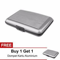 Lanjarjaya Card Guard Aluminium Wallet - Dompet Penyimpanan Kartu Serbaguna Silver Buy 1 Get 1