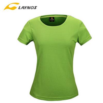 Laynos luar ruangan lengan pendek bernapas ukuran besar I pakaian t-shirt ((Perempuan