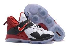 LeBron James 14 King James Cleveland Cavaliers Fashion Sepatu Bola Basket MID TOP Baru Warna LBJ Sport Sepatu (Putih) -Intl