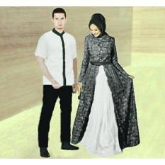 legiONshop-busana muslim couple | baju muslim | muslim wear | baju pasangan | maxi couple muslim ZAHIRA white