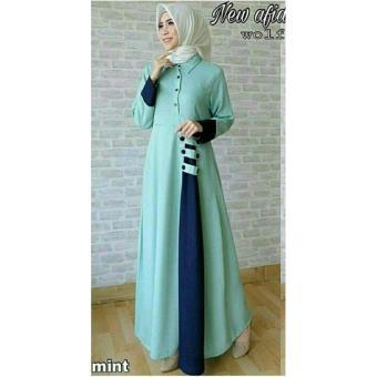 Price Checker legiONshop-busana muslim dress maxi | baju muslim wanita | dress wanita AVIVA mint Harga Terendah