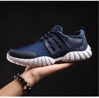 Cari Bandingkan Leisure running shoe tide breathable men's shoes (blue) - intl Pencari Harga