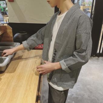 Diskon Penjualan Levin Patty Jepang bordir jaket musim gugur baru (Abu-abu) Harga