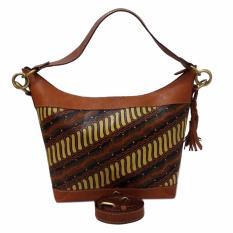 lin's craft tas kulit - hobo perca lukis asmat - jatiIDR227000. Rp 270.000