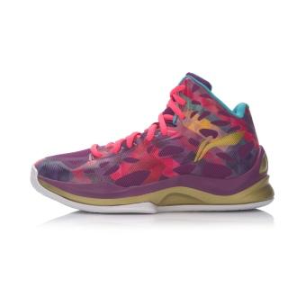 Beli LINING Abpl006 Perempuan Pergelangan Kaki Tinggi Generasi Sepatu Wanita Sepatu Bola Basket (Terang Portugis Ungu/Cahaya Fluoresensi Bubuk Buah/Emas) ...