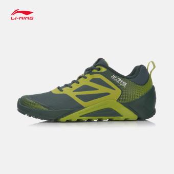 LINING ahrm021 musim dingin baru lintas negara laki-laki sepatu lari sepatu pria (Kayu hijau/rumput hijau-1)