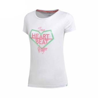 Jual LINING AHSM066 Modal Katun Wanita Musim Panas Leher Bulat Merajut Pakaian Olahraga Baru T-shirt (Standar putih-2) (Standar putih-2) Murah