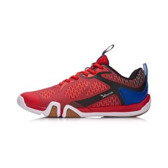 LINING Aytm031 Baru Memakai Non-slip Dukungan Untuk Membantu Rendah Sepatu Olahraga Bulu Sepatu Bola (Neon yang terang/kristal biru)