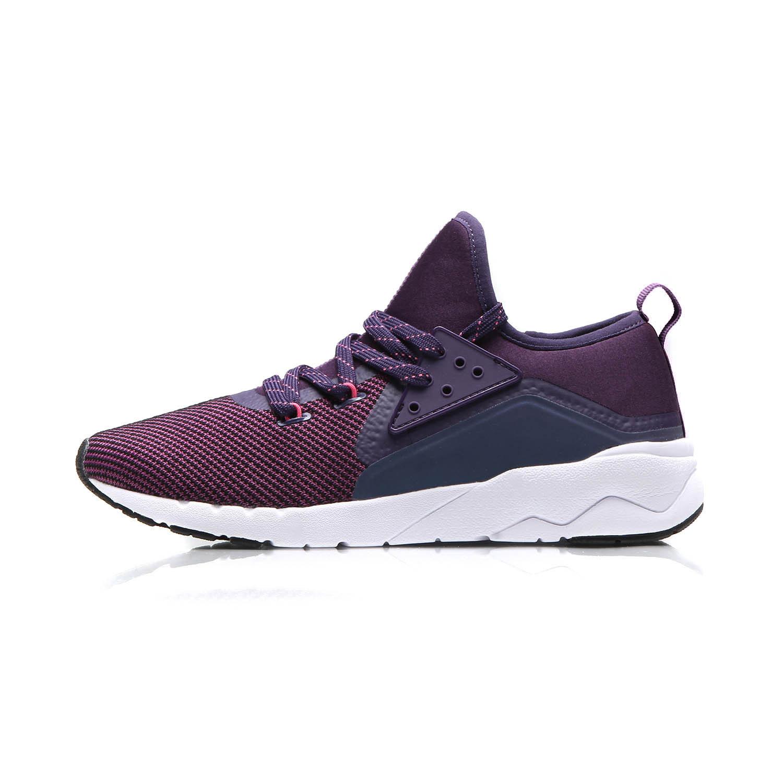 Flash Sale LINING Baru Memakai Non-slip Reflektif Kasual Olahraga Sepatu Sepatu Santai (Roma Ungu/Abad Ungu)