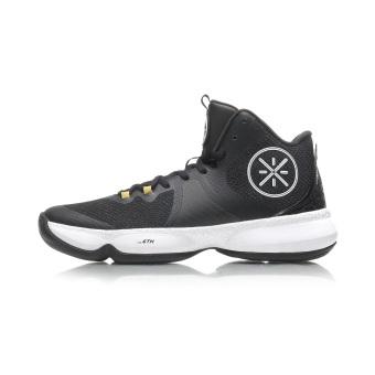 Beli LINING baru shock absorber memakai non-slip jala untuk membantu orang-orang di sepatu olahraga sepatu basket (Standar hitam/putih/emas cerah) Online