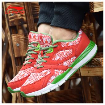 Beli LINING cahaya sepatu musim dingin sepatu wanita (Neon yang  terang putih jarum pinus hijau) Murah 4f90ee9448