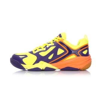 LINING sepatu bulu tangkis sepatu pria sepatu olahraga (Lakers baru ungu/neon hijau muda-3)