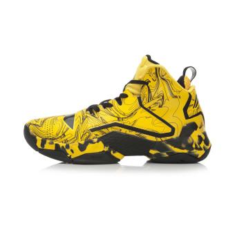 LINING tinggi atas sepatu olahraga sepatu basket (Yao kuning/yayasan baru hitam)