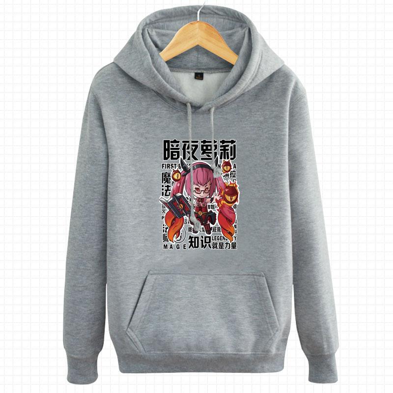 Flash Sale Lolita musim gugur pria dan wanita pecinta t-shirt (Abu-abu