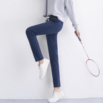 Longgar musim semi dan musim gugur baru celana perempuan tipis celana bagian olahraga (920 *