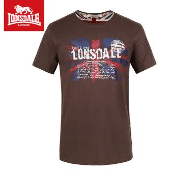 Beli Lonsdale Inggris musim semi dan musim panas pria leher bulat lengan pendek kasual pakaian t-shirt (PARK'S warna) Online
