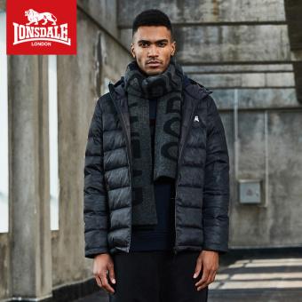 LONSDALE jaket musim dingin pria baru (Hitam)