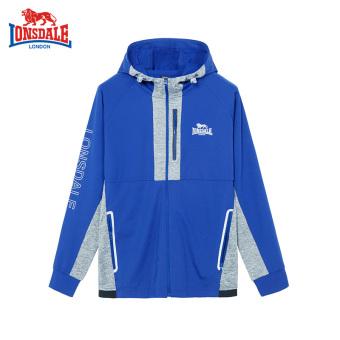 Harga LONSDALE Musim Gugur Baru Rajutan Berkerudung Kaos Sweater (Warna Biru) Ori