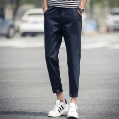 LOOESN autumn New style men ankle-length pants (Biru tua)