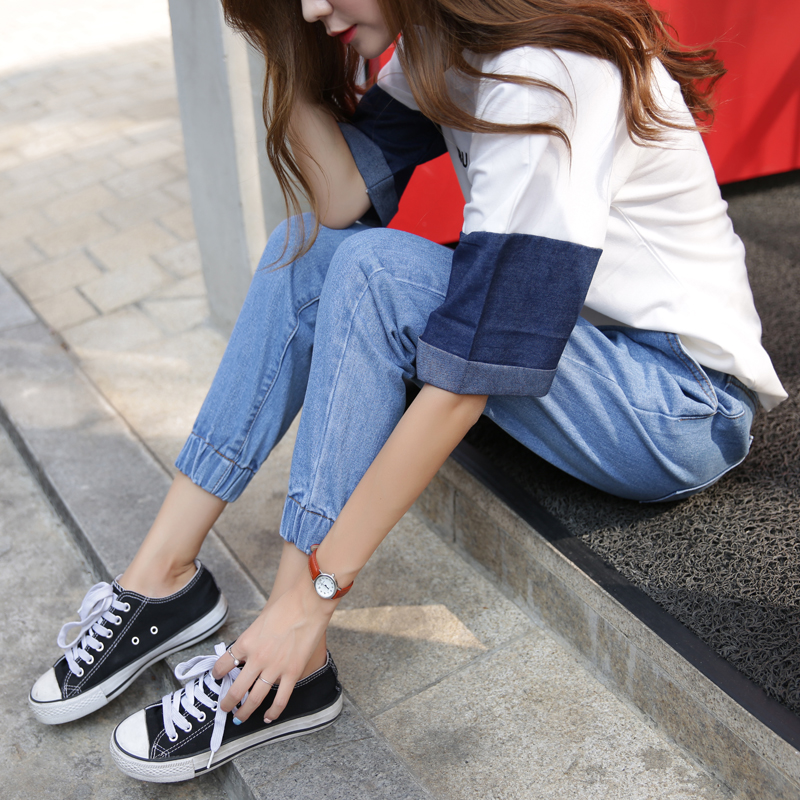 ... autumn New style Slim fit pantyhose pants jeans (Biru). Source · LOOESN Japan and South Korea HarLan female ankle-length pants Plus-sized denim pants