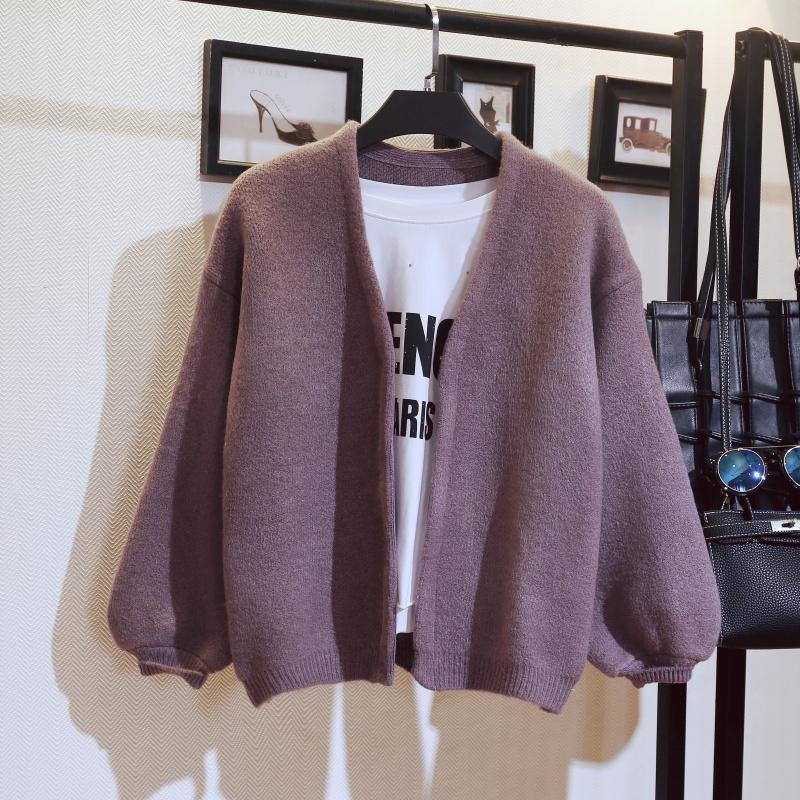 Flash Sale LOOESN Korea Fashion Style baru musim gugur lentera lengan sweter kardigan ayat pendek sweater