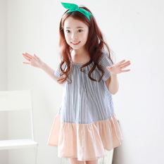 gadis gaun anak rok peri Putih Source Anak Perempuan Source Source LOOESN Korea Fashion Style katun