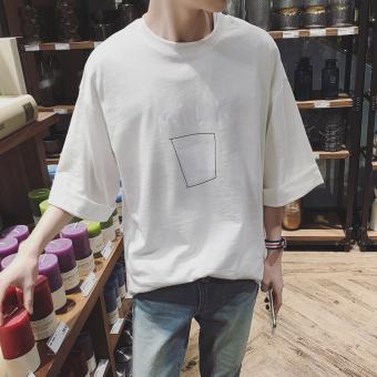 Jual Korea Fashion Style Laki Laki Baru Siswa Bottoming Kemeja T Shirt Putih Di