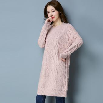 Periksa Peringkat LOOESN Korea Fashion Style musim gugur baru ukuran besar sweater rajutan gaun (LLSS808
