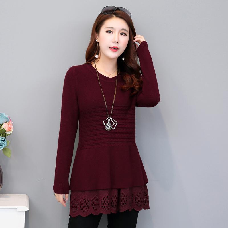 Flash Sale LOOESN Korea Fashion Style musim semi dan musim gugur baru bagian panjang sweater sweater