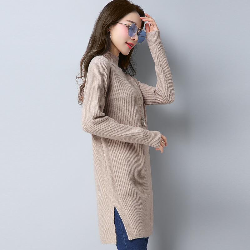 LOOESN musim gugur baru lindung nilai dan setengah kerah tinggi sweater (EEYS1703 khaki)