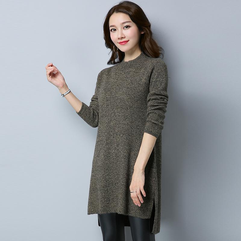 LOOESN perempuan lindung nilai panjang kemeja lengan dan bagian panjang musim gugur sweater baru (CHMG8107
