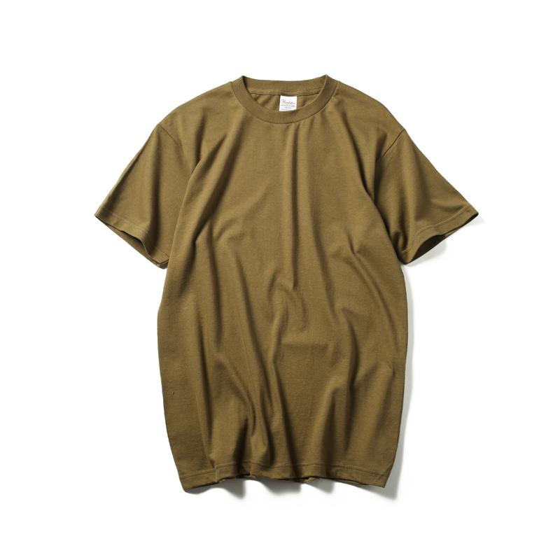 LOOESN versatile cotton white student T-shirt base shirt (Tentara hijau)