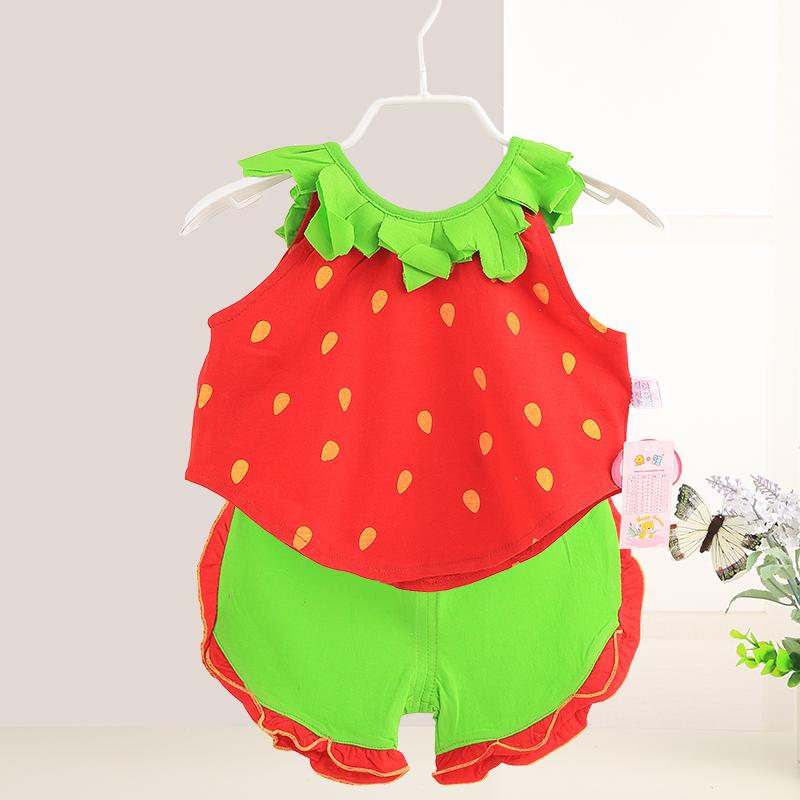 Lucu Bayi Musim Panas Anak-anak Musim Panas (Strawberry merah) (Strawberry merah