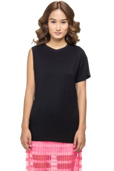 LZD Asymmetrical Sleeve Top (Black)