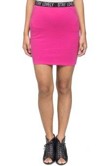 LZD Bodycon Mini Skirt Pink