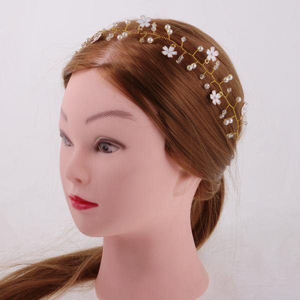 ... Bride Artificial Diamond Source · MagiDeal Elegant Girls Crystal Flower Pearls Headband Headpieces Hair Accessories intl