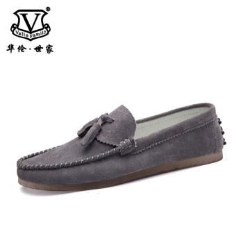 Terbaik Murah Malas Korea Fashion Style kulit musim gugur pria kasual sepatu kulit Peas sepatu (