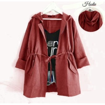mamamia collection -jaket wanita joy merah maroon