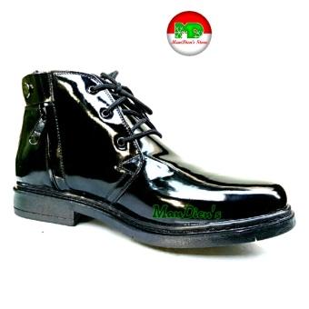 Gambar Mandiens Sepatu Pria Pantofel Super Kilat TNI POLRI PDH R.04 (Hitam) 13fbf6e7ad
