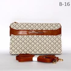Marlee B-16 Tas Wanita Selempang Sling Bag Clutch - Cream